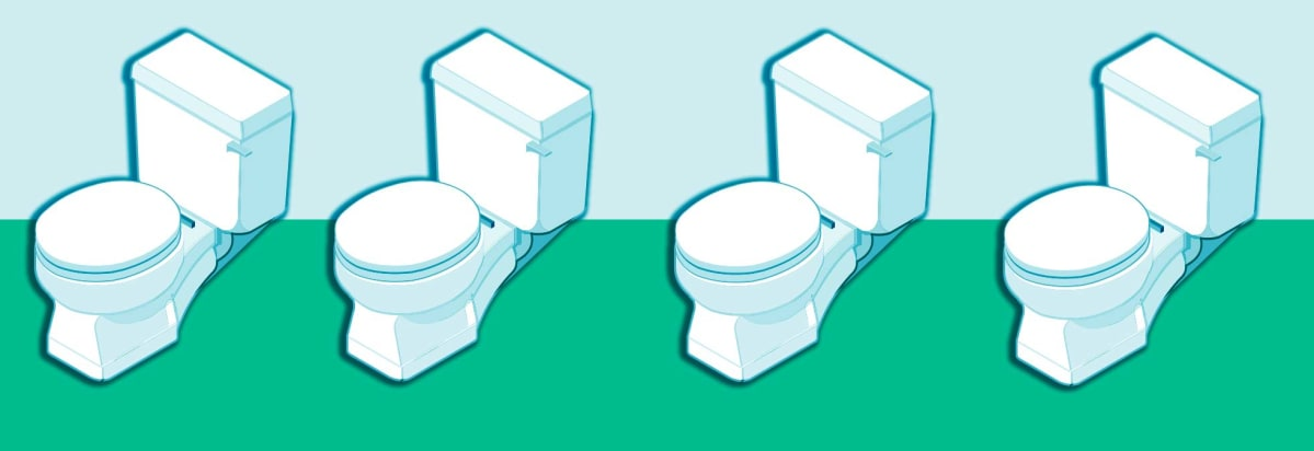 An Illustration Of Water Saving Toilets
