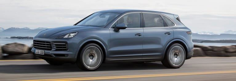 New 2019 Porsche Cayenne driving
