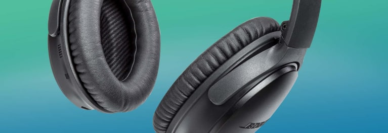 Photo of Bose noise-canceling headphones.