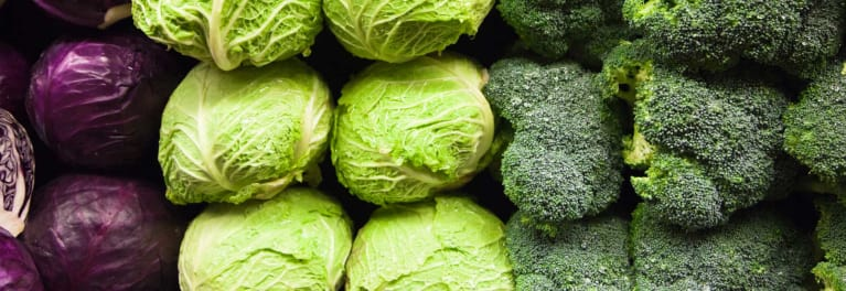 Cabbage, brussels sprouts, and broccoli are Cruciferous Vegetables