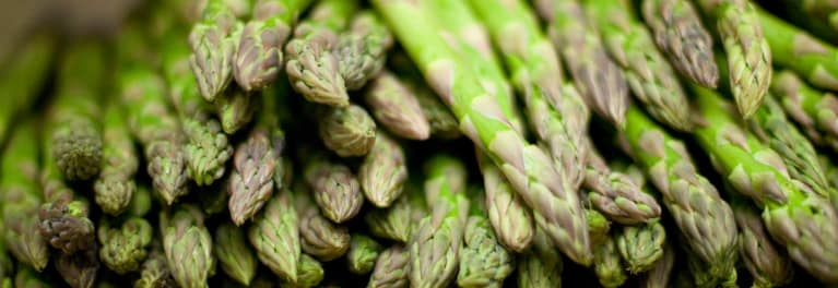 Asparagus. Eating more is one way to eat healthier.