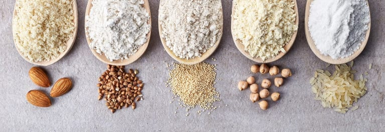 A gluten-free diet can contain alternate flours, like quinoa and almond.