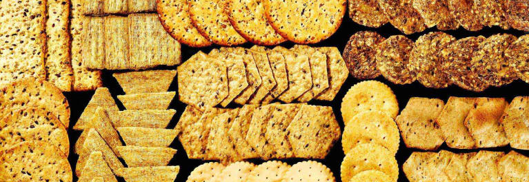 A variety of crackers from Consumer Reports' review of the healthiest crackers