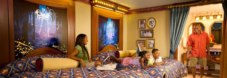 Family gathering in Disney Resort Hotel Room