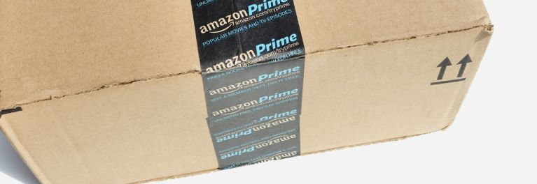 An Amazon Prime delivery box.