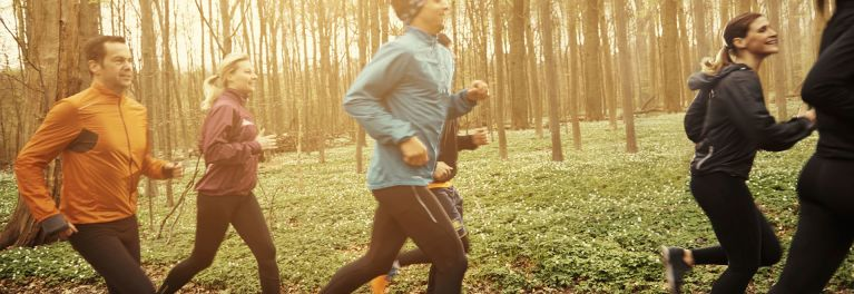 People jogging. Regular exercise can be an effective immunity booster.
