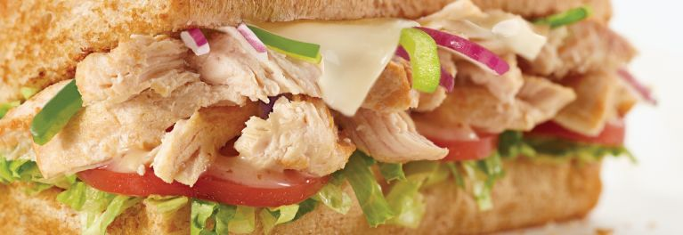 The no-antibiotic rotisserie chicken sandwich on Subway's menu.