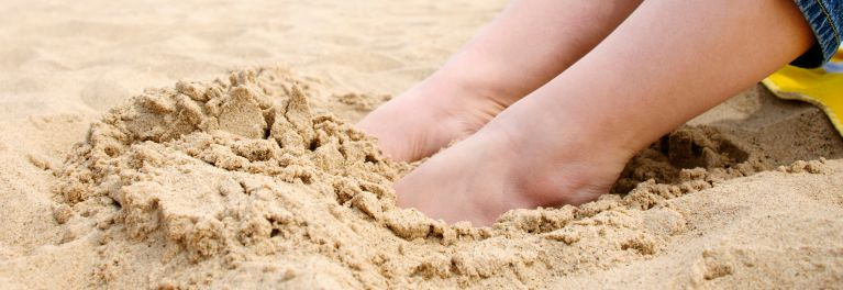 Toes in sand. New drugs to treat toenail fungus work, but simpler solutions sometimes are enough.