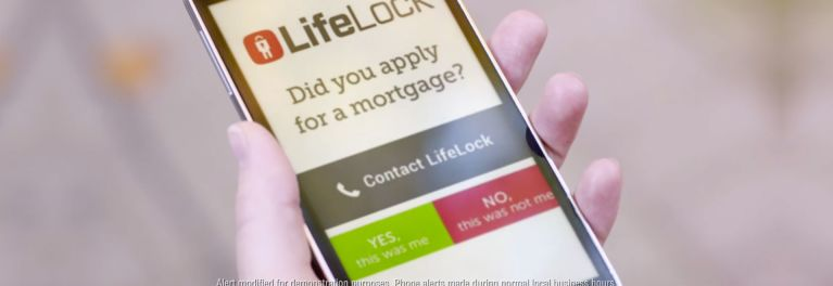 A LifeLock alert on a smart phone screen