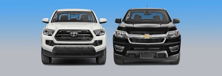 Chevrolet Colorado vs. Toyota Tacoma.