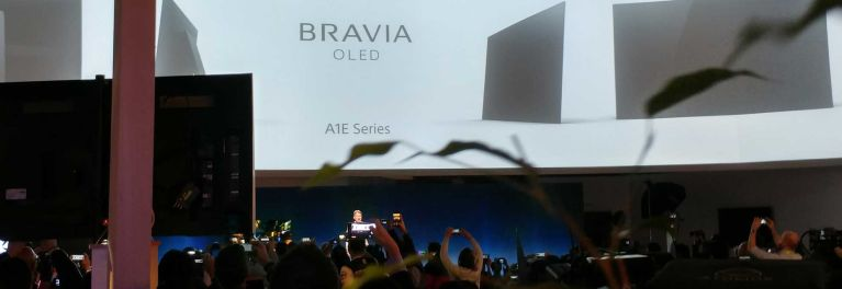 Photos of Sony announcing a 4K OLED TV for 2017.