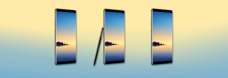 Samsung Galaxy Note8 phones and stylus.