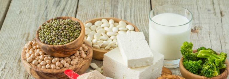 Beans, tofu, soy milk, and broccoli can be complete proteins.