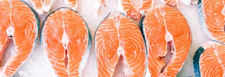 Salmon steaks are a safe fish for pregnant women.