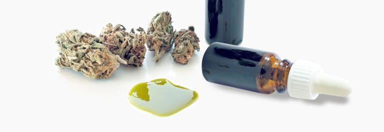 Bottles of cannabis oil for seizures