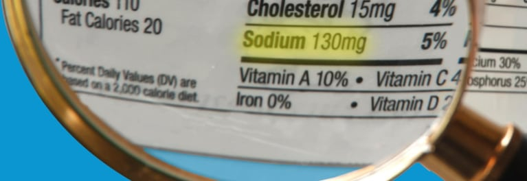 Read food labels to cut back on sodium.