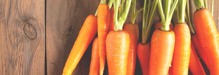 Carrots are a tasty cooked vegetable.