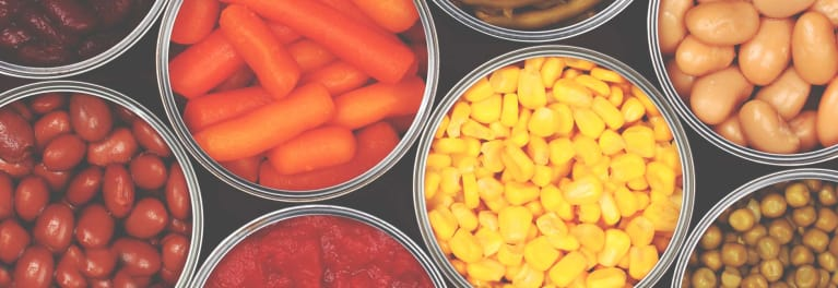 Canned vegetables are ideal to feed your family during a blackout