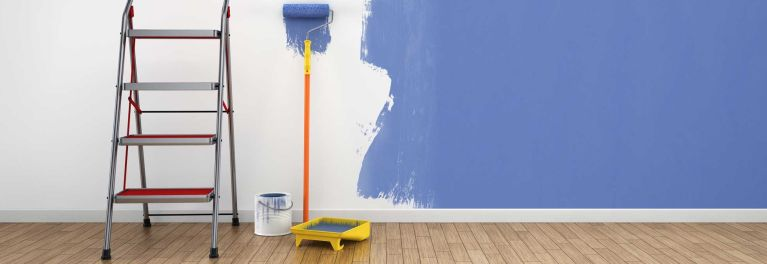 Paint a room a bright new color like this blue.