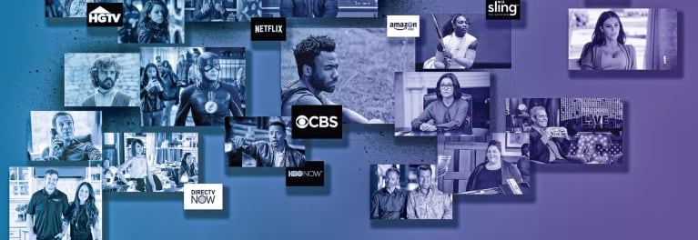 Screen shots of TV shows.