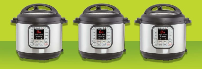 Three models of the Instant Pot appliance