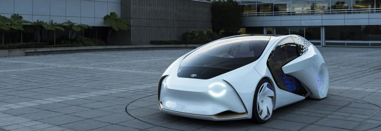 Toyota Concept i self-driving car.