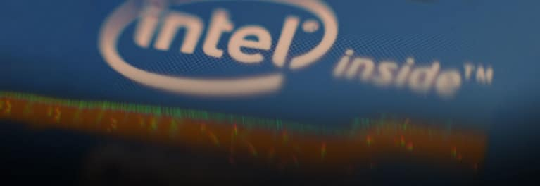 Intel Inside logo for an article on a major security flaw in computer chips