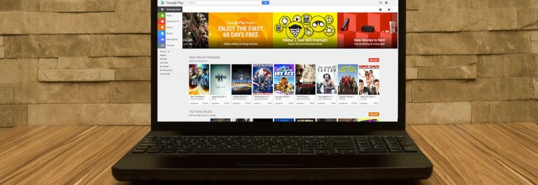 A Chromebook laptop with the Google Play store on screen