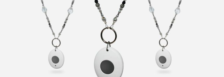 Three medical alert necklaces from MobileHelp