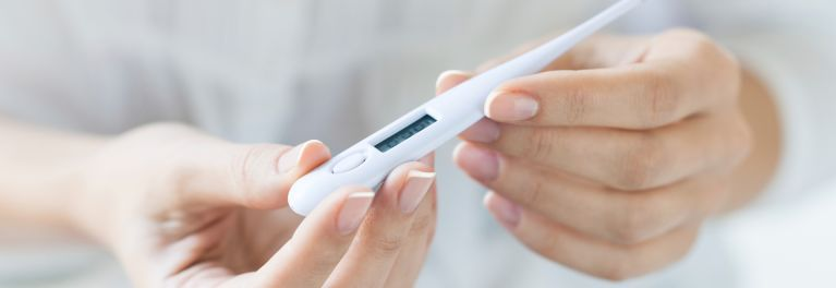 A thermometer can help you figure out if you have a high temperature.