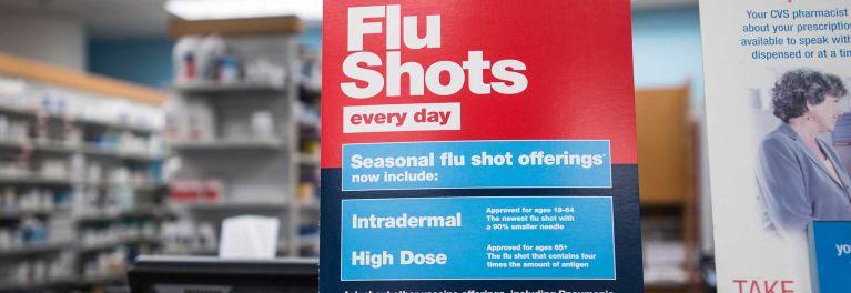 Drug store flu vaccine ad.