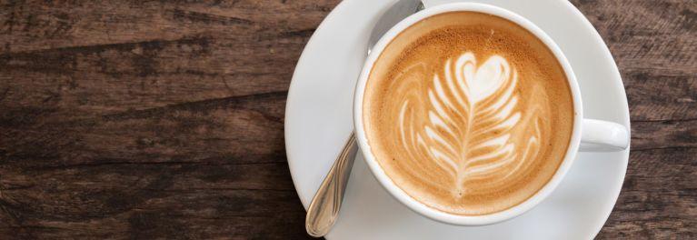 A cappuccino made from espresso.