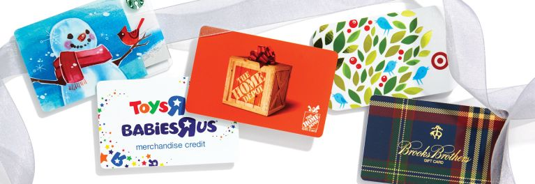 Several popular gift cards. Learn how to exchange gift cards.