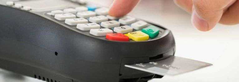New EMV chip credit card must be inserted into a card reader, rather than swiped.