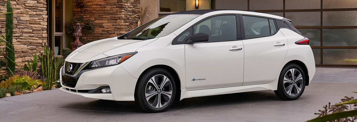 2018 Nissan Leaf Electric Car.