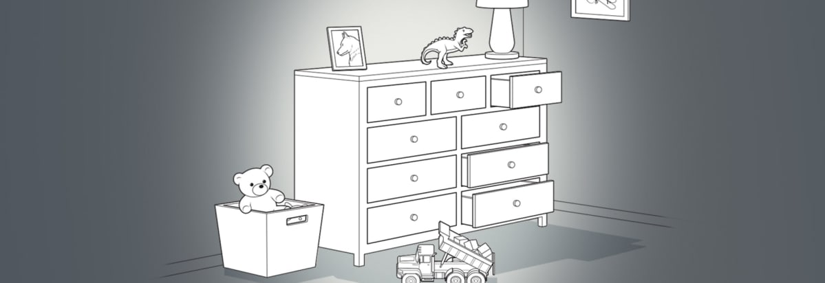 Illustration Of A Typical Dresser In A Childu0027s Room