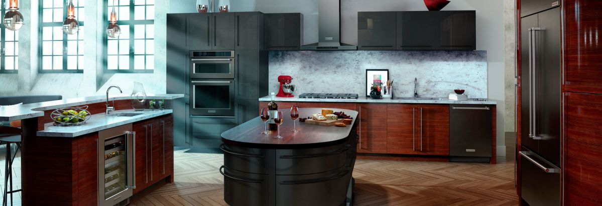 kitchen designs with black appliances. Black stainless steel appliances from KitchenAid  Will Stainless Steel Finish Off Consumer Reports