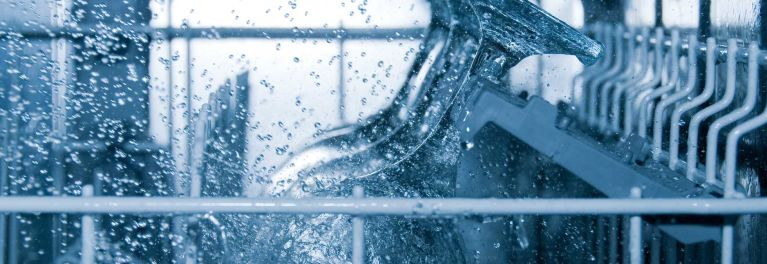 A clean dishwasher filter results in clean water.