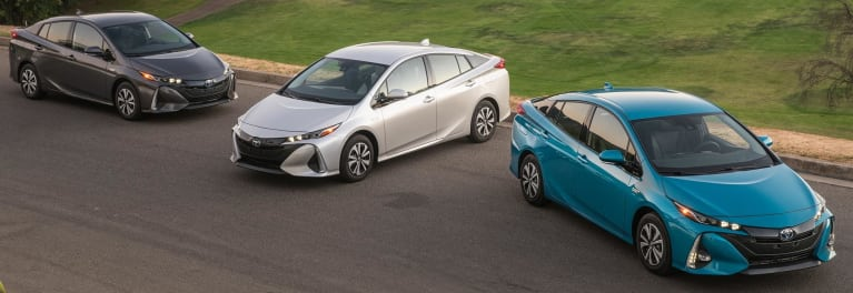 Toyota Prius Prime family in guide to hybrid cars