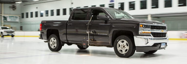 Chevrolet Silverado used for ice and winter tire testing.