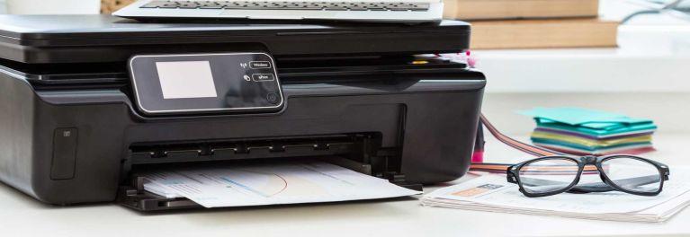 A printer on a desk