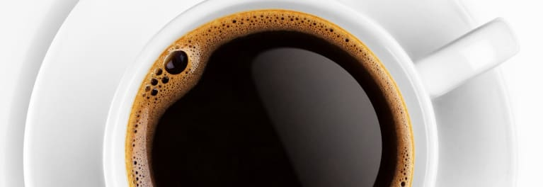 A cup of coffee. Drink coffee, live longer.