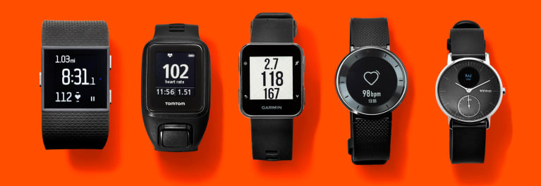 A picture of fitness trackers