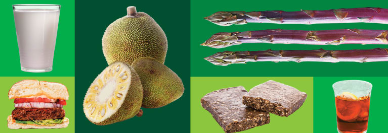 Weird foods: jackfruit, purple asparagus, kefir, cricket flour, meatless burgers, birch water