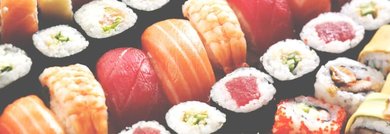Sushi and sashimi are among the healthier choices in food