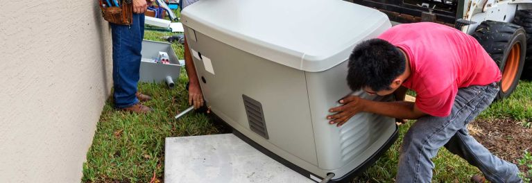 Replacing a portable generator with a stationary model.