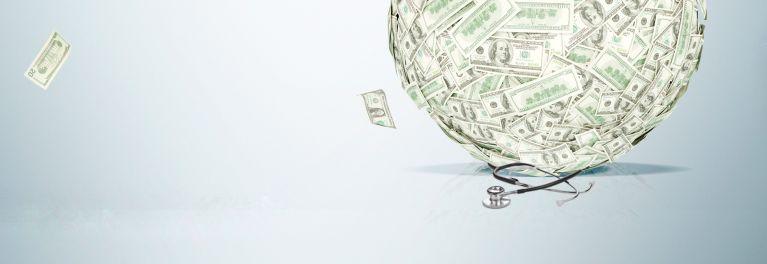 A ball of money.