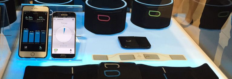 Quell pain control wearable with app.