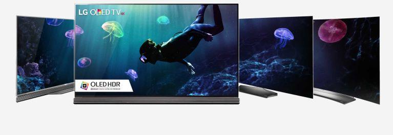 Three LG 4K OLED TVs