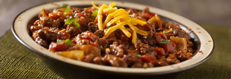 Bowl of chili for a story on multi-cookers.